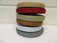 2 metres or 20 metre Roll 10mm Navy Blue Woven Chevron Arrow Ribbon Double sided